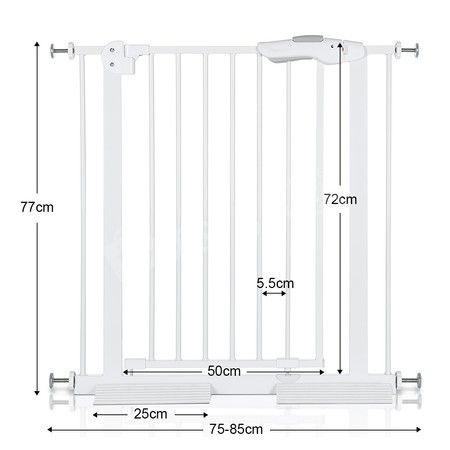 Adjustable Width Baby Pet Child Safety Security Gate Stair