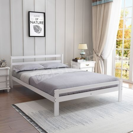 Double Queen King Pine Wooden Bed Frame Mattress Base