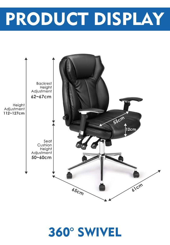 Office Chair Seat Height 60cm Office Chair Adjustable