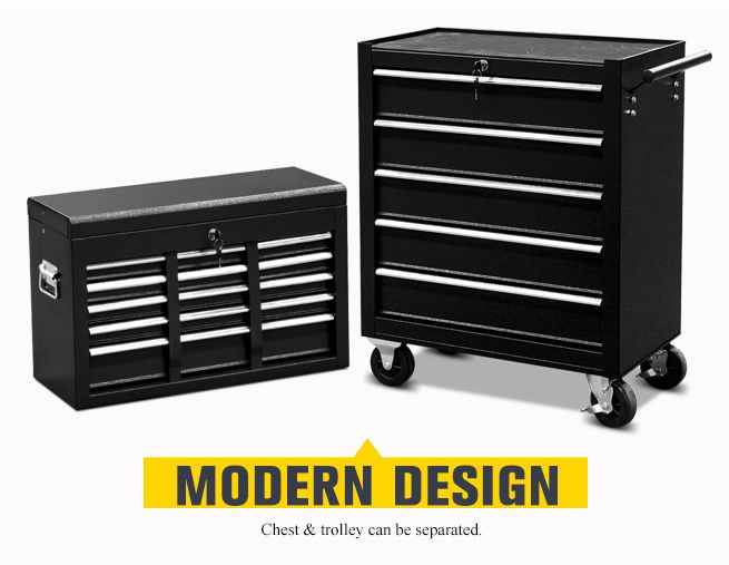 Mechanics 8 Drawer Tool Box Chest Roller Cabinet: Mechanic Tool Box Storage Cabinet Chest Trolley Roller